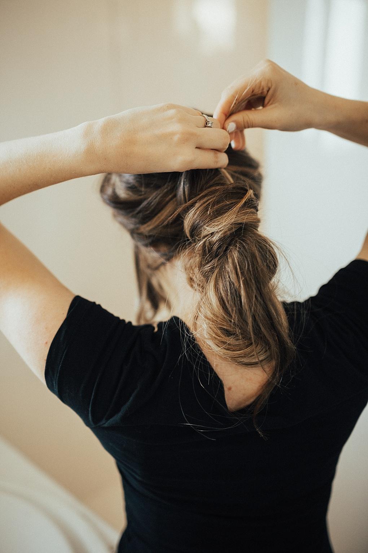 Wrap Around Messy Bun Hair Tutorial by Utah style blogger Dani Marie