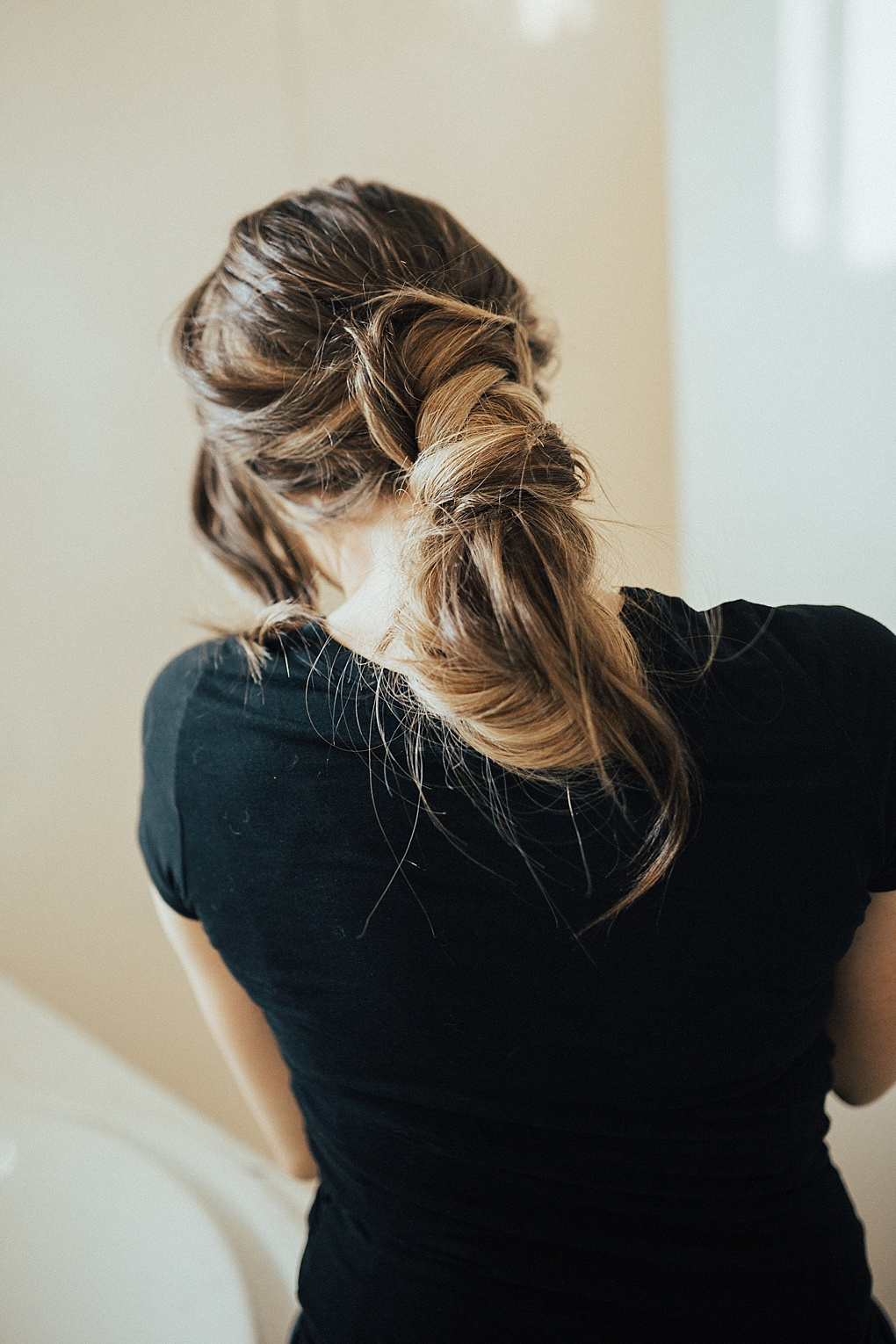 Wrap Around Messy Bun Hair Tutorial by Utah style blogger Dani Marie