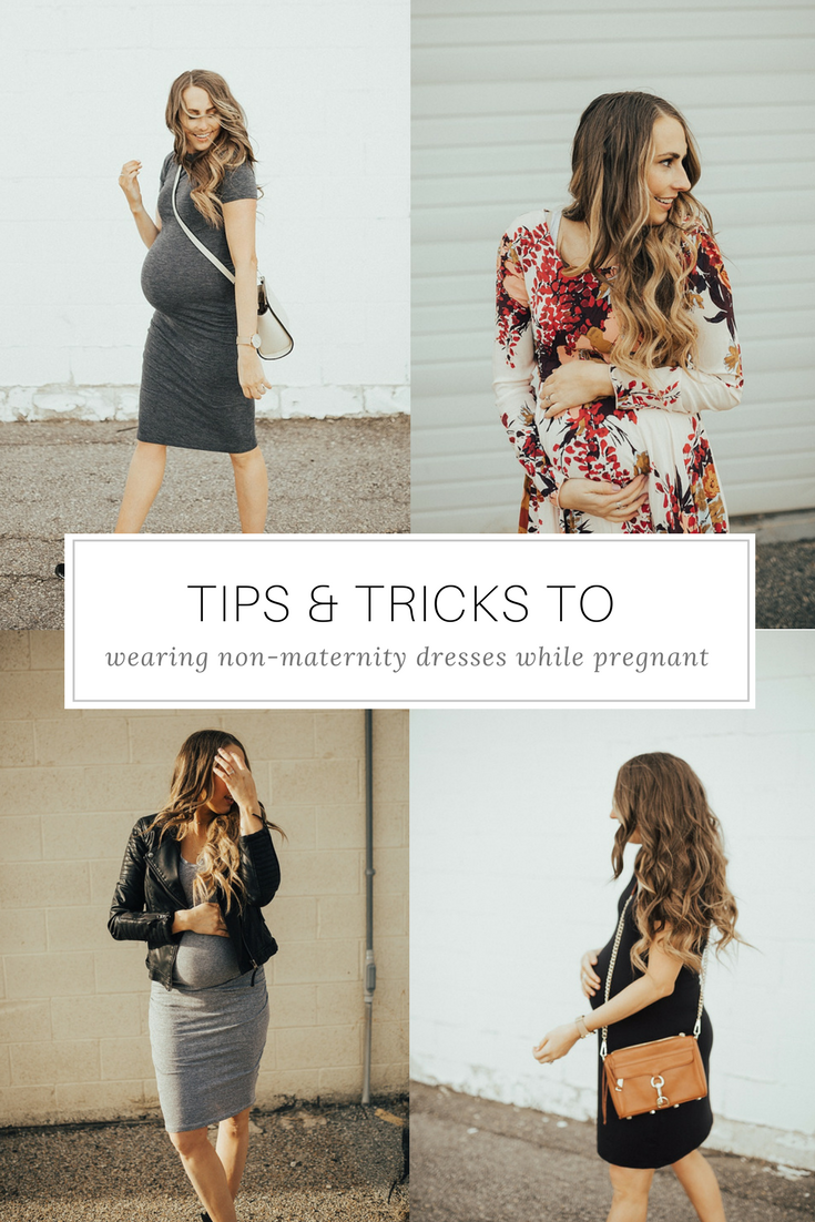 SAVE this ASAP for the perfect tips on how to style a non-maternity dresses for maternity thanks to Utah Style Blogger Dani Marie!