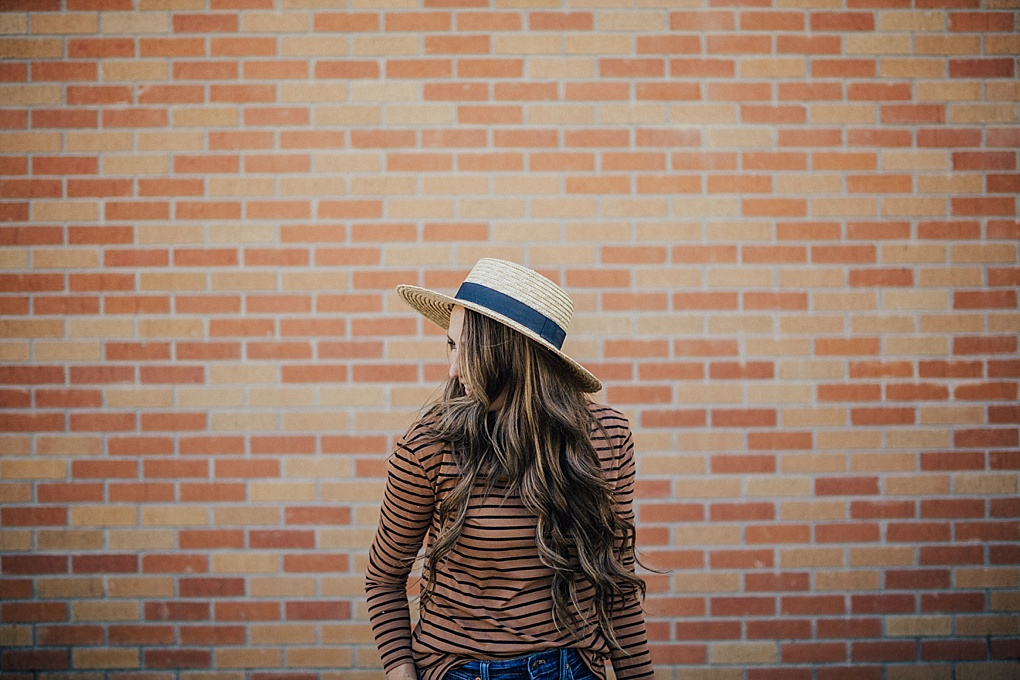 Curious how to rock a stripe tee year round? Utah Style Blogger Dani Marie is sharing her favorite 3 ways to wearing a stripe tee!