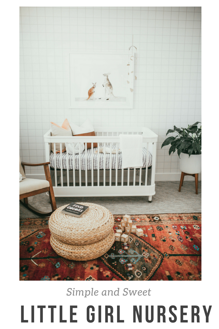 Need inspiration for a baby girl nursery? Utah style blogger Dani Marie is sharing a look inside the design process of this gorgeous baby girl nursery.
