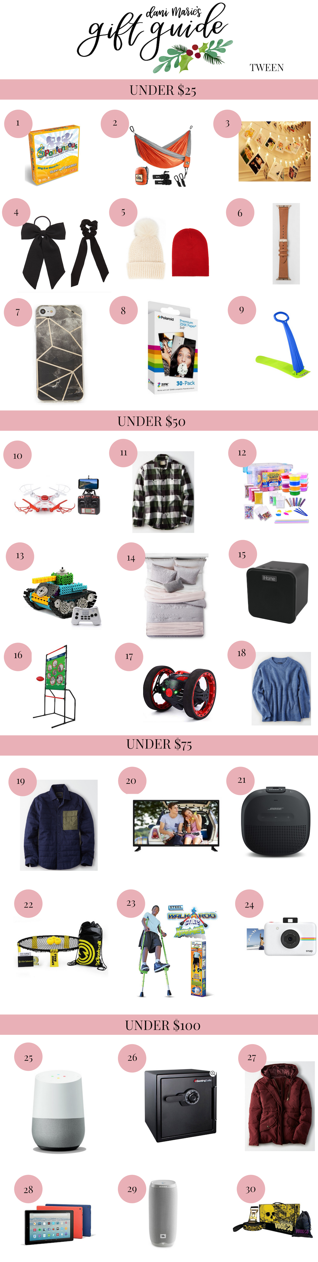 The Hard To Buy For Tween Gift Guide | Dani Marie Blog