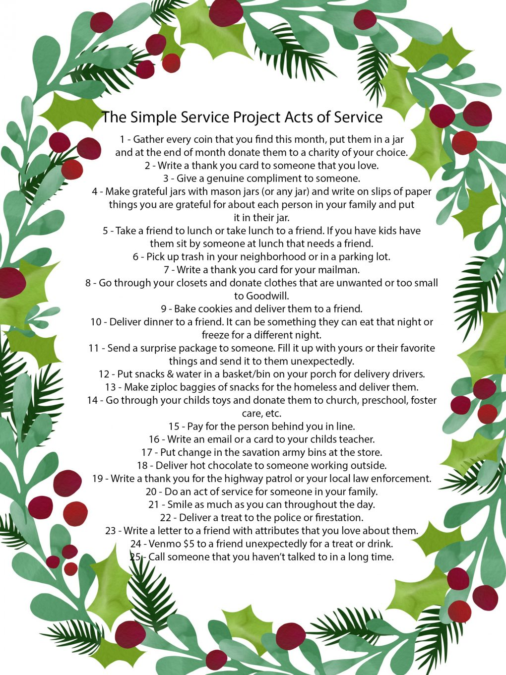 Looking to give back this holiday season? Utah Style Blogger Dani Marie is sharing her acts of service project- the Simple Service Project. See how to give back here!