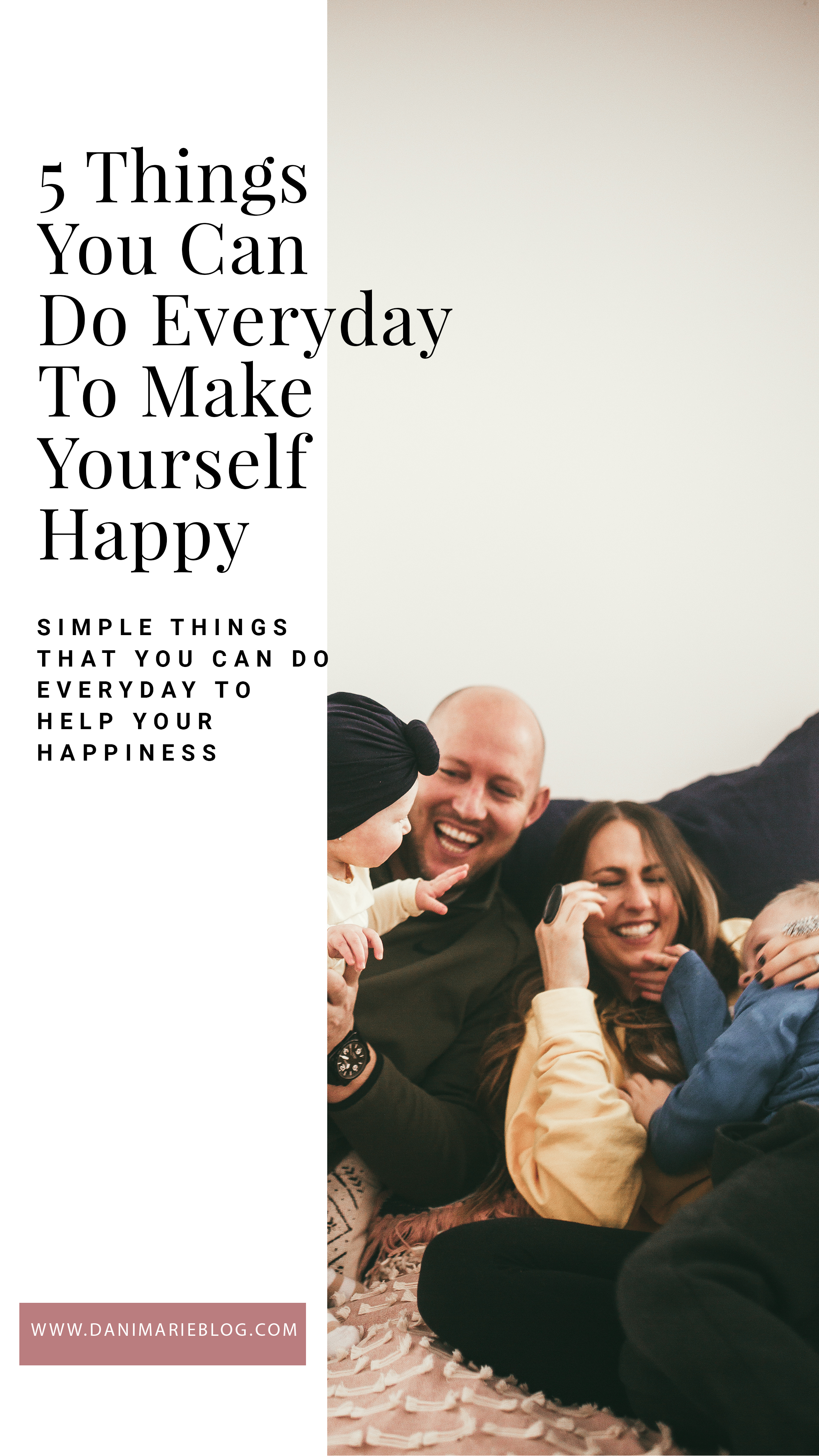 Looking for ways to be happy everyday? Utah Style Blogger Dani Marie is sharing her top 5 ways to be happy everyday that she does. Click to see them here!