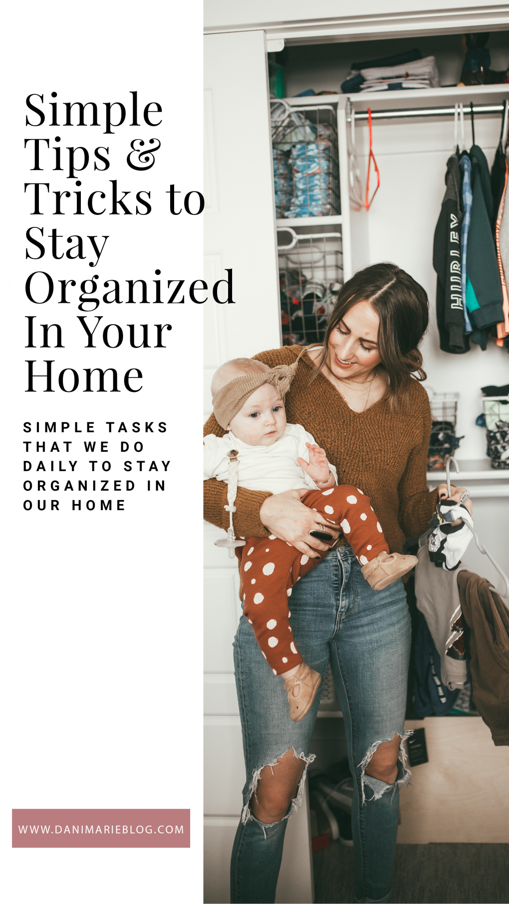 Stuck trying to figure out ways to organize your home? Utah Blogger Dani Marie is sharing her top 5 simple ways to organize your home like a pro! Click to see them here!