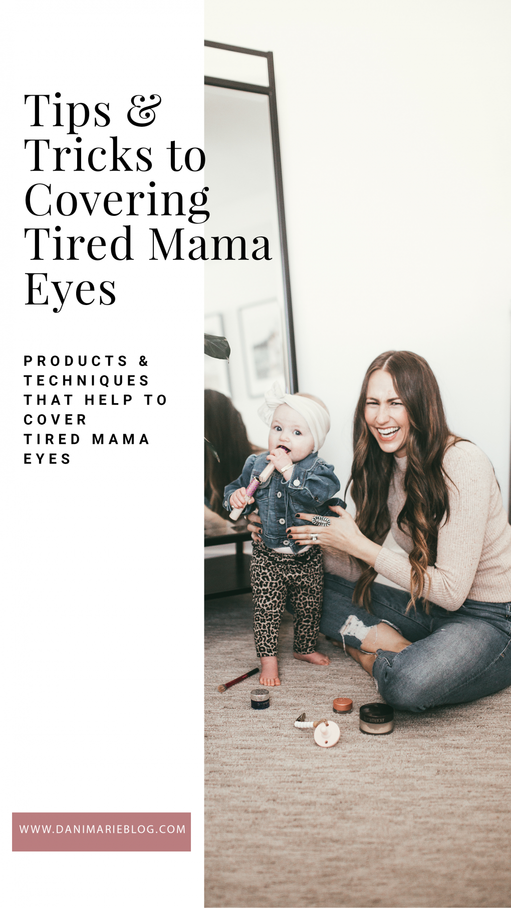 Curious how to cover tired eyes? Utah Style blogger Dani Marie is sharing her 3 easy tips to cover tired eyes like a pro. Click to see them here!