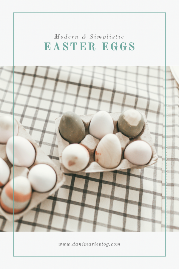 Looking for the perfect Easter egg tutoral? Utah Style Blogger Dani Marie is sharing her favorite modern simplistic easter egg tutorial here!