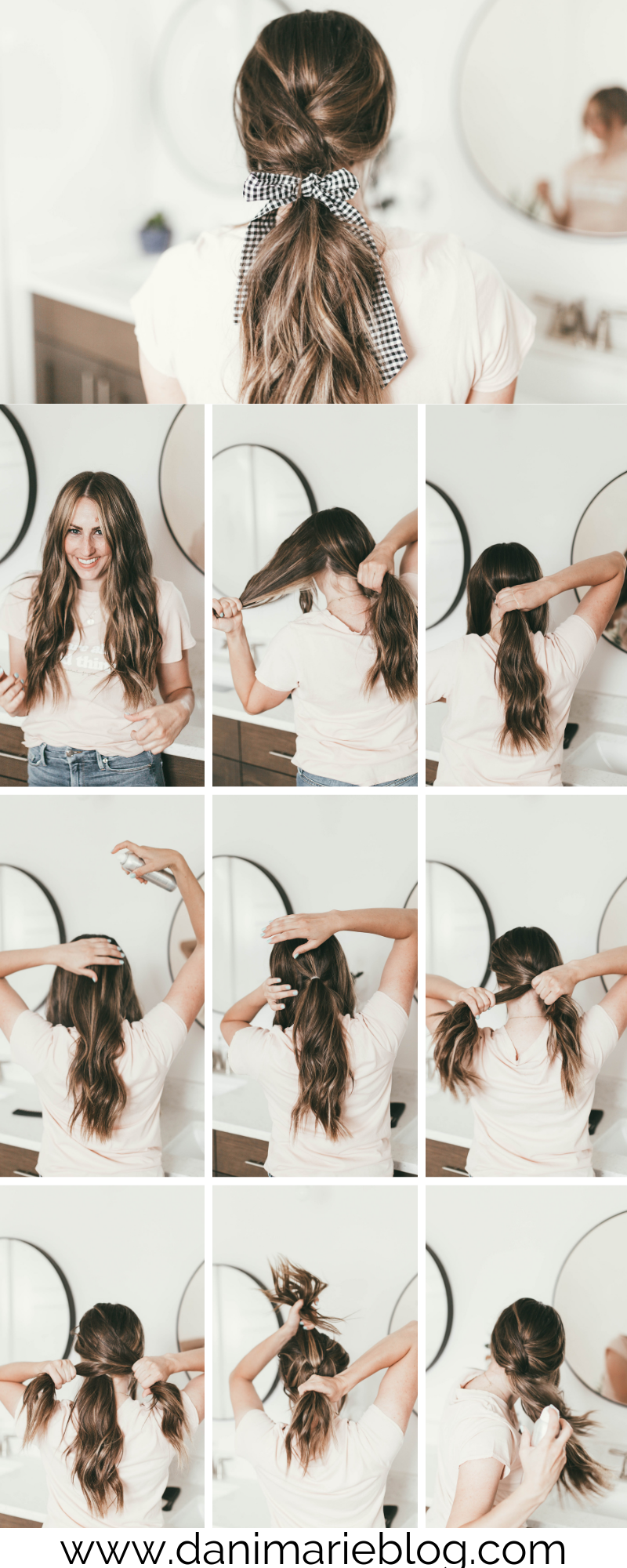 Curious how to jazz up a simple pony tail? Utah Style Blogger Dani Marie is sharing the prettiest simple pony tail tutorial here!