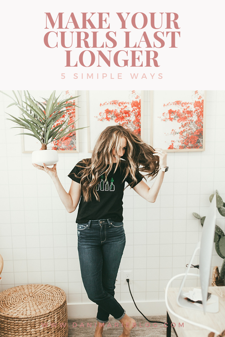 Curious how to make your curls last longer? Utah Style Blogger Dani Marie is sharing her top 5 simple tips to make curls last longer! Click to see them here!